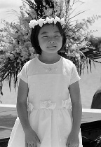 Flower Girl: Portrait in Black and White