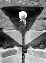 Warwick Arrow Hole: Geometric Shapes in Black and White