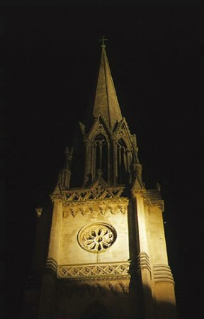 Abbey Steeple at Night