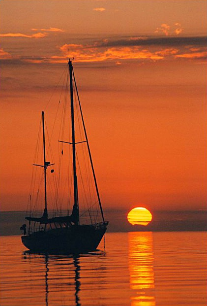 Sailboat and Sunrise