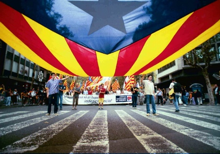 Catalonian nationalist protest march