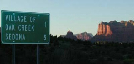 Entering Sedona, AZ