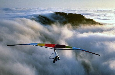 Hang Glider above Crinkle Crags