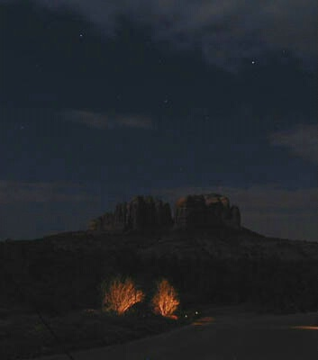 Cathedral Rock by Moonlight