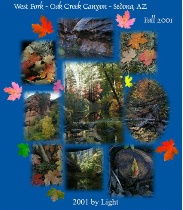 Fall Collage - Oak Creek Canyon - Sedona, AZ