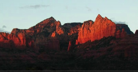 Sunset On Red Rocks