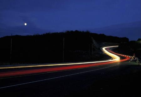 Moon-lit drive