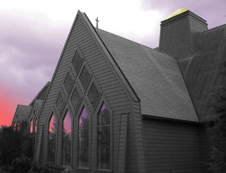 Church and the Purple Sky