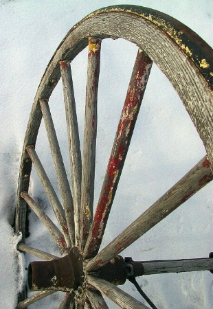 weathered wheel