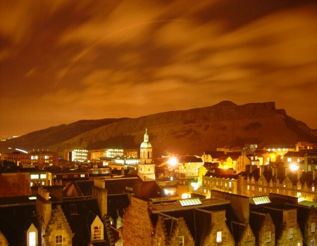 Edinburgh & Arthur's Seat at Night