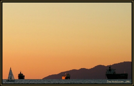 Burrard Inlet sunset