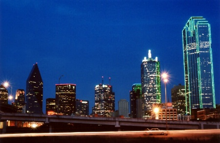 Dallas Skyline from Commerce and I-35