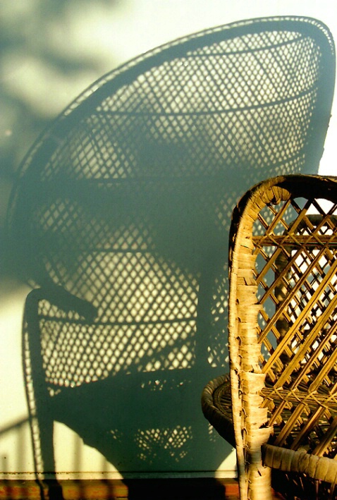 wicker chair &shadow