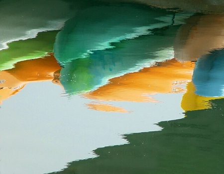 Canoes Reflected