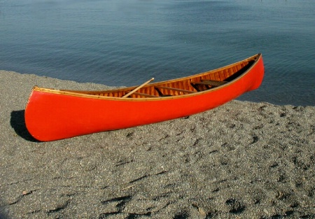 Red Canoe on the Beach