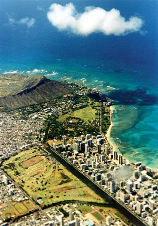 Diamondhead and Waikiki