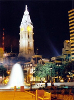 Philadelphia's City Hall from Love Park