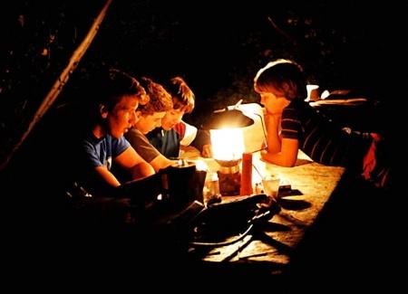 Lantern-Lit Campers