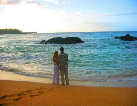 """Evening on a Beach in Kauaii"""