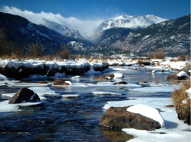 Snow At Big Thompson River