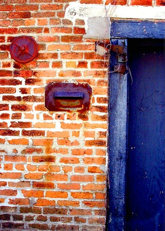 Red Bricks- Blue Door