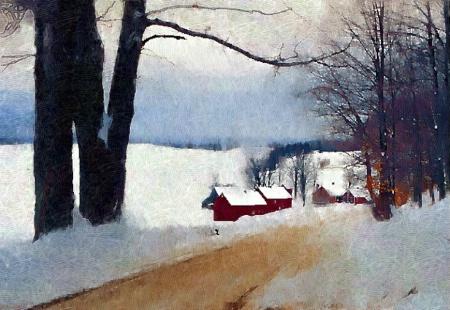 Jenny Farm, Woodstock, Vt. Winter