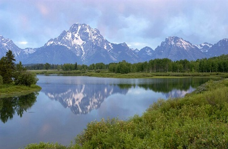 Touch Of Pink At Oxbow Bend