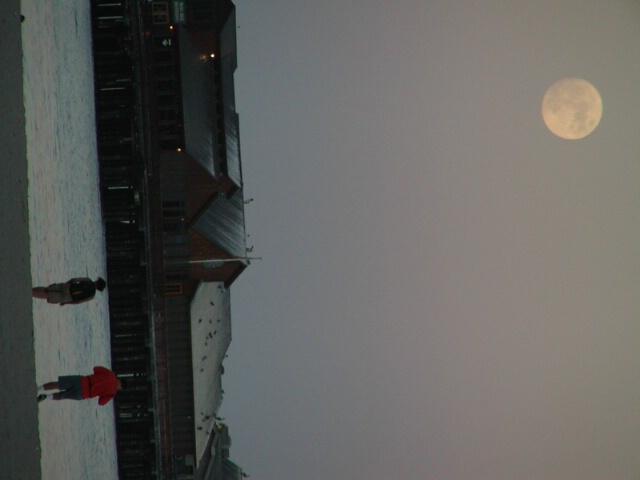 moon over wharf