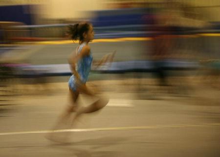 Gymnast Vault Run #1