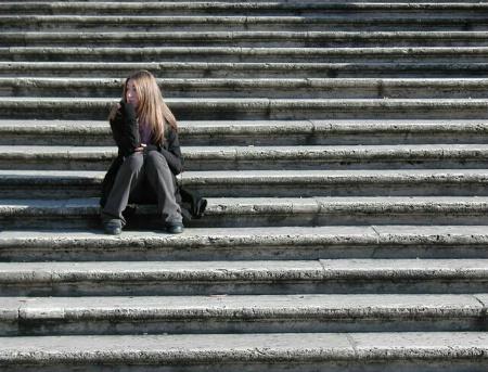 Spanish stairs in Rome