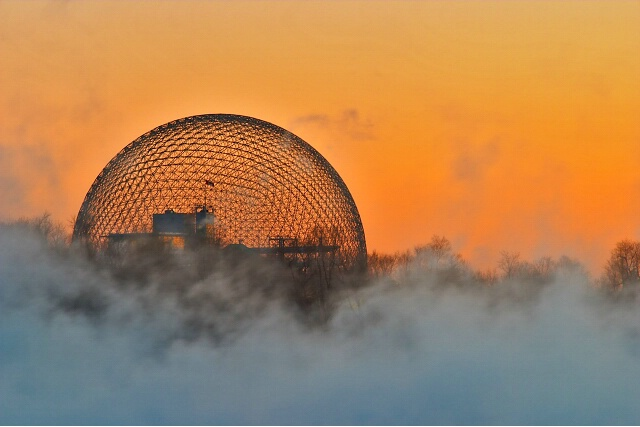 Expo Dome at Dawn