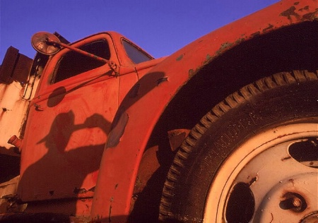 Self-Portrait and Old Truck
