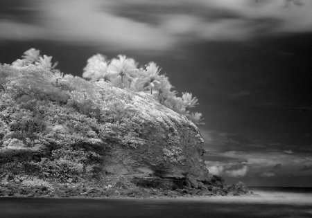 The Hidden Beach in Infrared