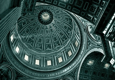 The Dome of St. Peter's Basilica, Vatican, Ro
