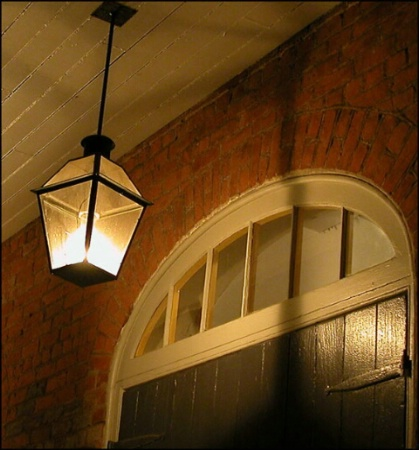 Lamplight in the French Quarter, New Orleans