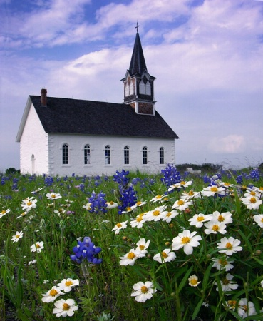 Rock Church in Spring