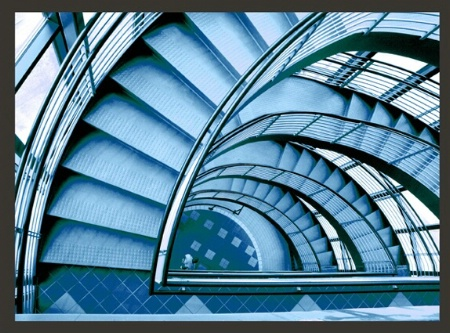 Stairs Blue