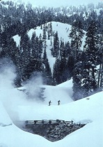Skiers in Cascades