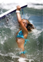 little surfer gir...