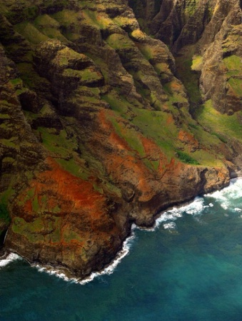 Na Pali Coast Cliffs and Reefs Aerial