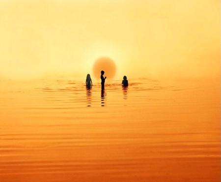 Sundown Bathing