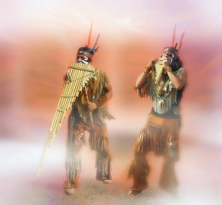Peruvian Panpipe Musicians
