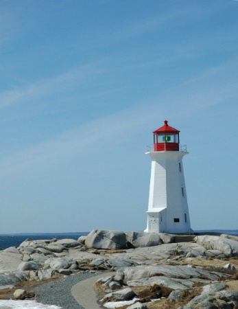 Peggys Cove Lighthouse After