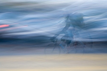 Panning Cyclist