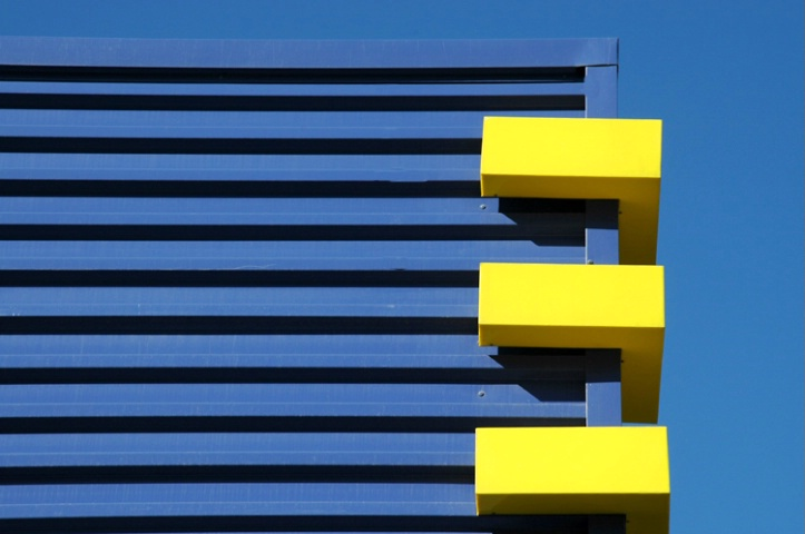 GEOMETRY  IN  BLUE  AND  YELLOW