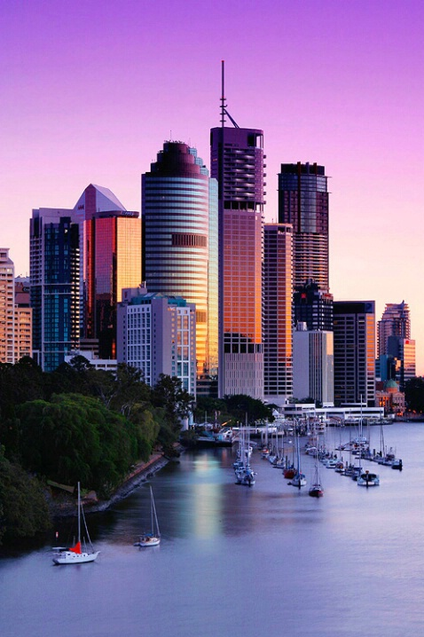 Brisbane City at Dawn