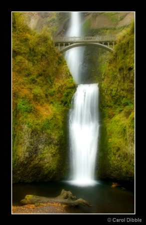 Multnomah Falls in October