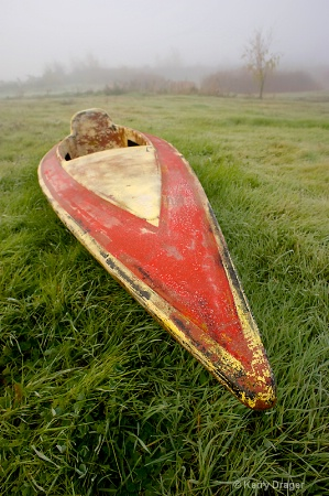 Old Kayak in Dense Fog - 20mm