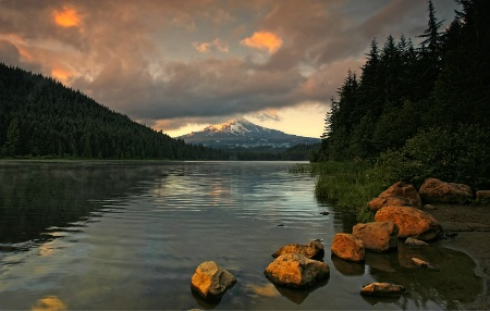 Evening Comes to Trillium Lake