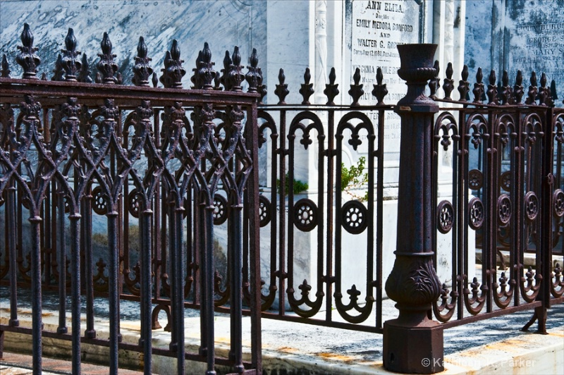 Wrought Iron Fence - New Orleans Cemetery